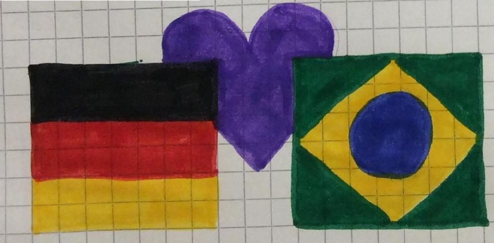 Alemanha e Brasil, por Letícia