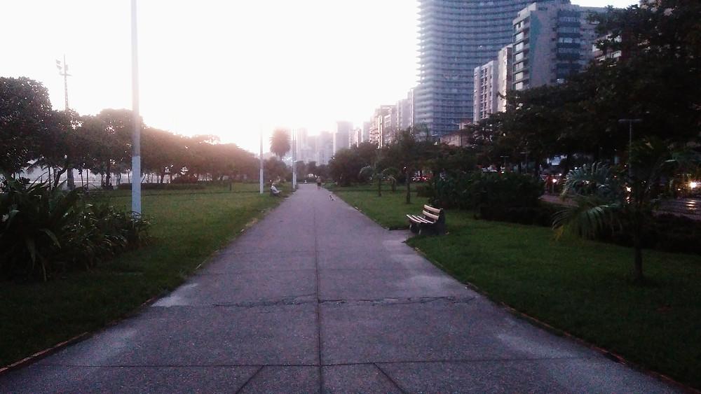 Jardins da praia de Santos