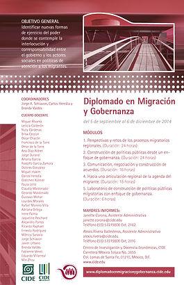 2014 CarteldiplomigracionyGobernanzaCIDE