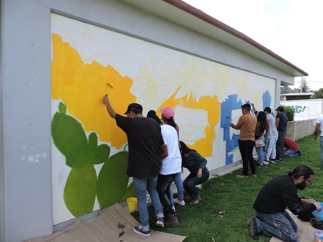 Muralismo comunitario Esc. Sec. Tec. Laz