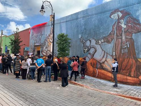 Mural aniversario San Pedro Cholula
