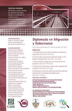 2013 DiplomadoCIDE-MigryGobernaza-SedePU