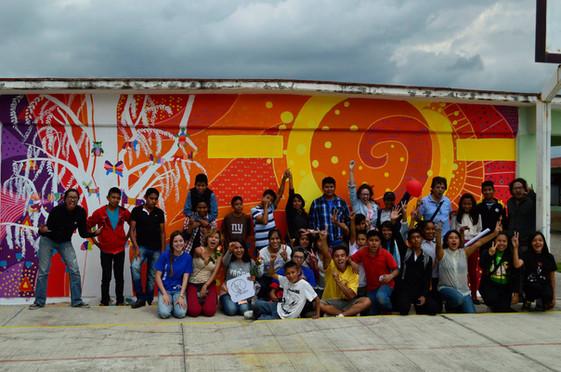 Mural comunitario Nealtican Puebla
