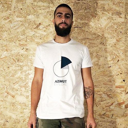 T-shirt logo Azimut - blanc/bleu marine
