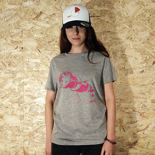 T-shirt espace - rose/gris