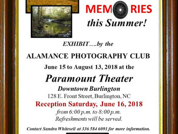 Alamance Photography Club Exhibit at the Paramount