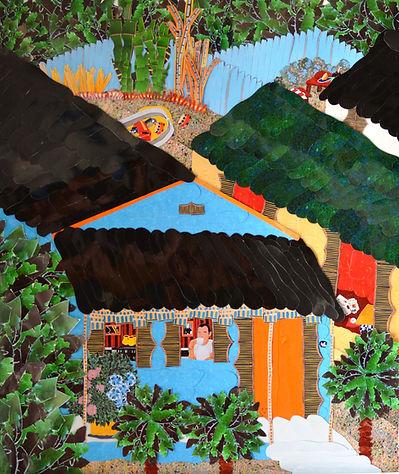 Shotgun Houses. New Orleans Framed 23x26