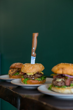 TRio with knife Burgers by Kristel Maros