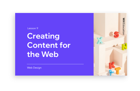 Creating Content for the Web