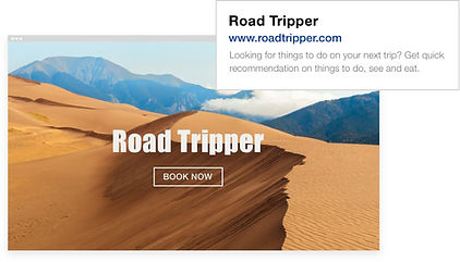"SEO for homepage of a travel website called ""Road Tripper"""