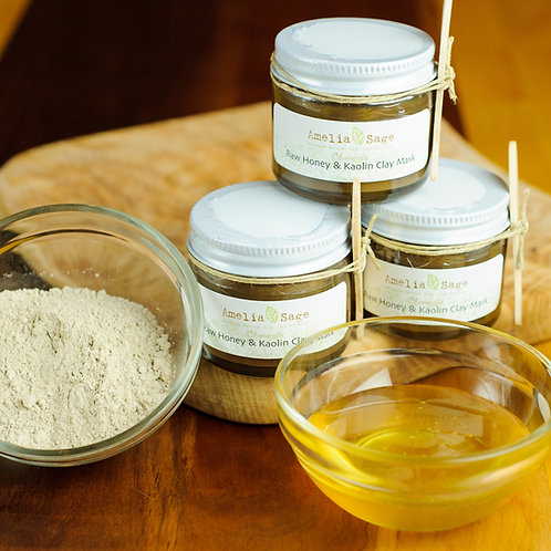 Raw Honey & Kaolin Clay Mask, Chamomile (For Sensitive, Dry to Normal Skin)