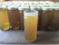 Pure, raw wildflower honey from one of our hives.