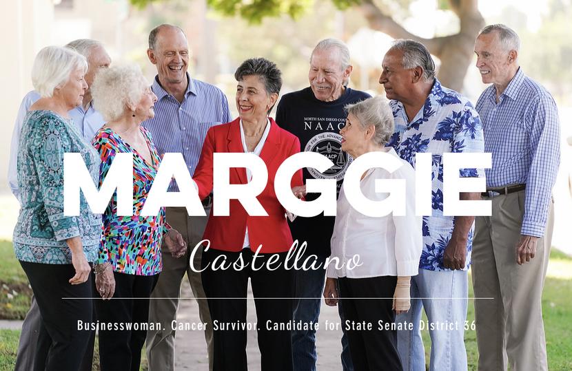 Political Ad Campaign for Marggie Castellano.  San Diego, CA