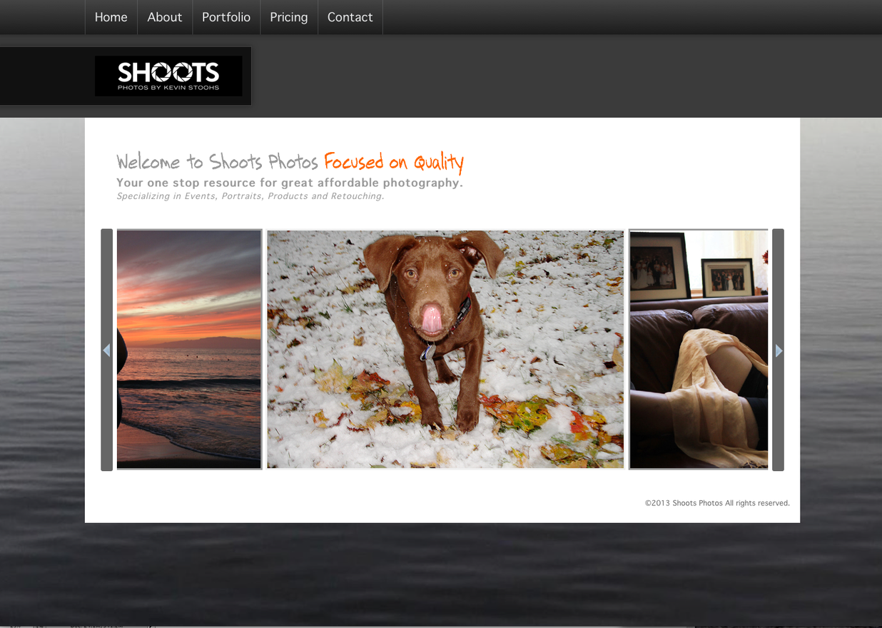 Shoots Photos Website