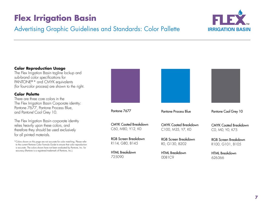 Flex Corporate Identity - Brand Identity Color Pallete.
