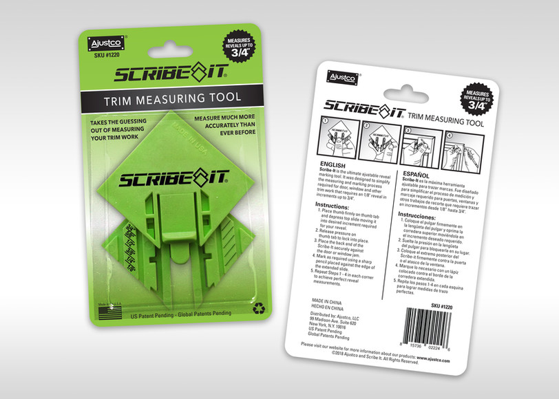 Scribe It Blister Package Design