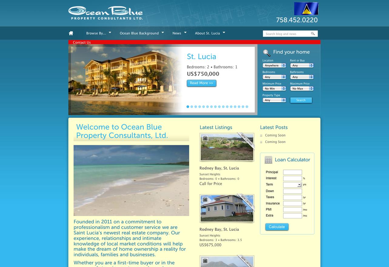 Ocean Blue Real Estate Website