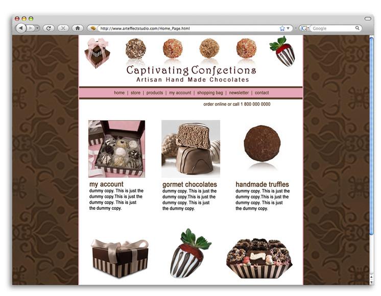 Captivating Confections Website