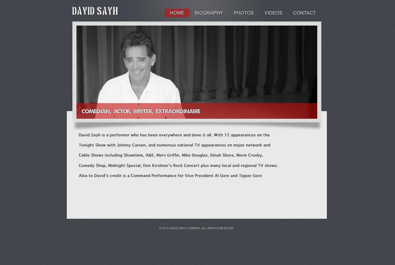 David Sayh Entertainer Website