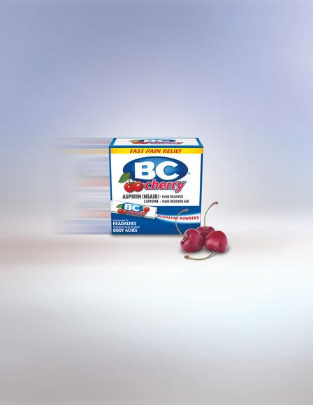 BC Cherry Powder Product Shot 3D Rendering