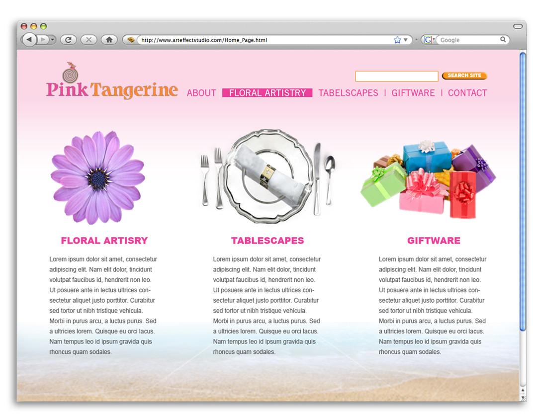 Pink Tangerine Website