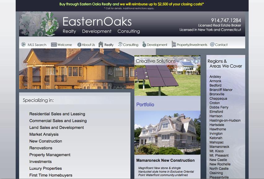 Eastern Oaks Website