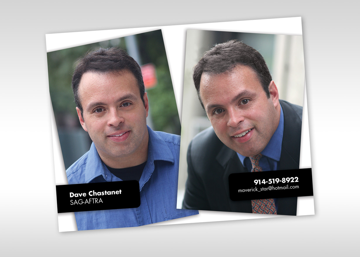Head Shot Actor Postcards