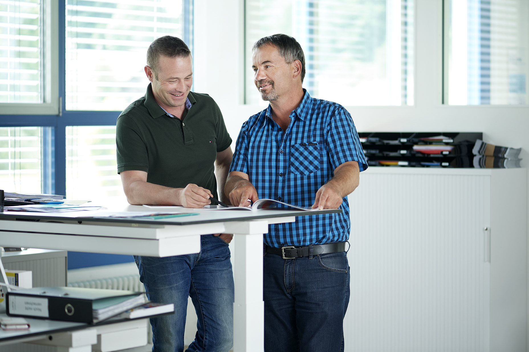 Geschäftsinhaber Thomas und Armin