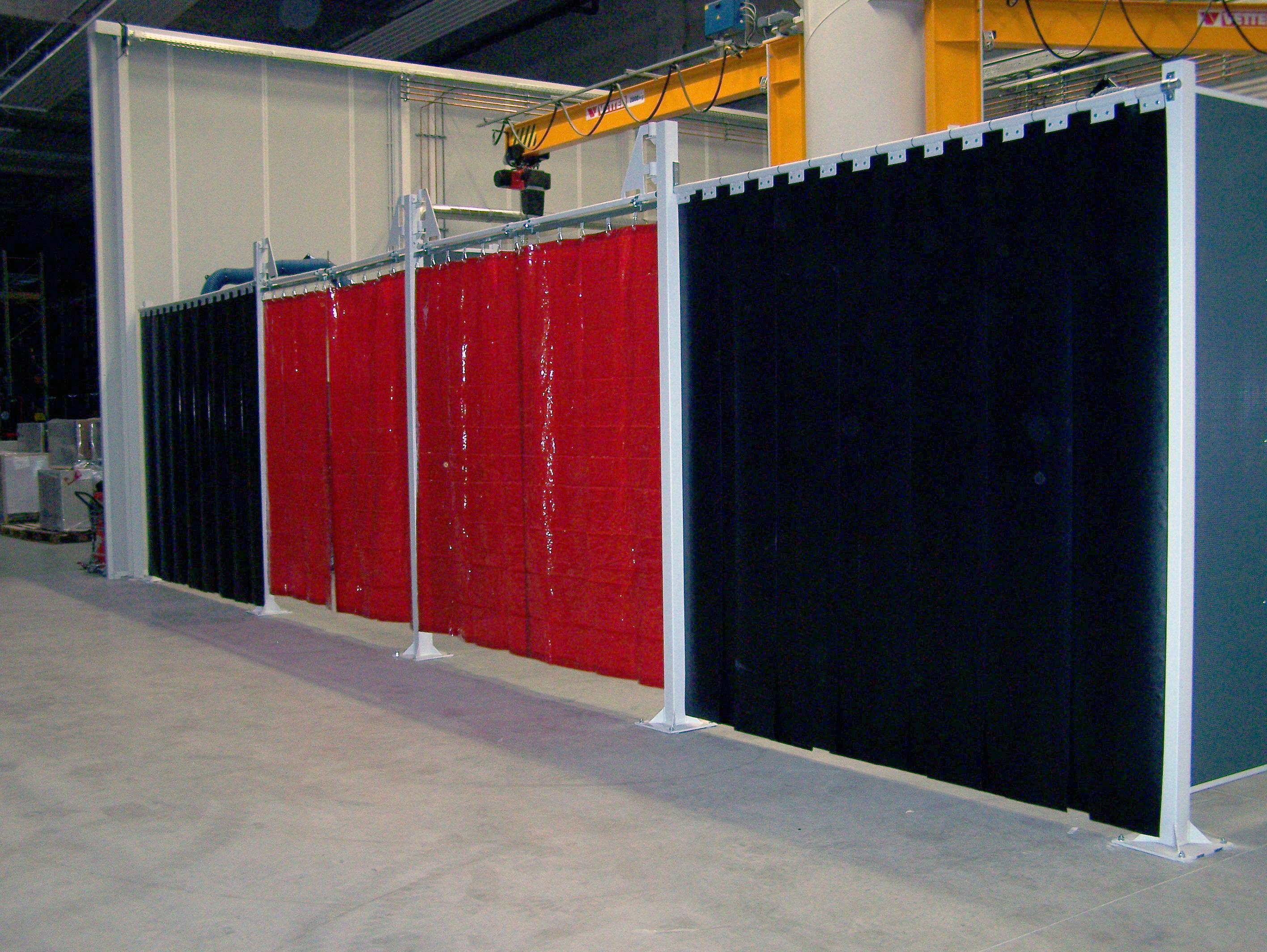 Lamellenvorhang und Schwenkarm Blendschutz
