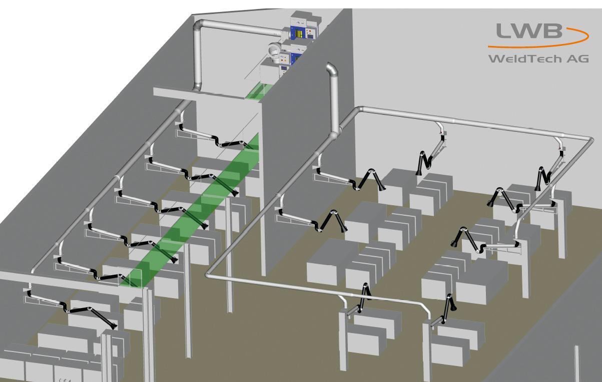 zentrale Filteranlage Filtercube mit Absaugarme