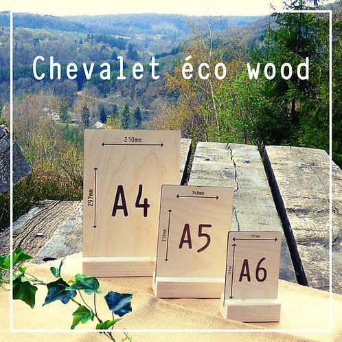 Chevalet Éco Wood personnalisé