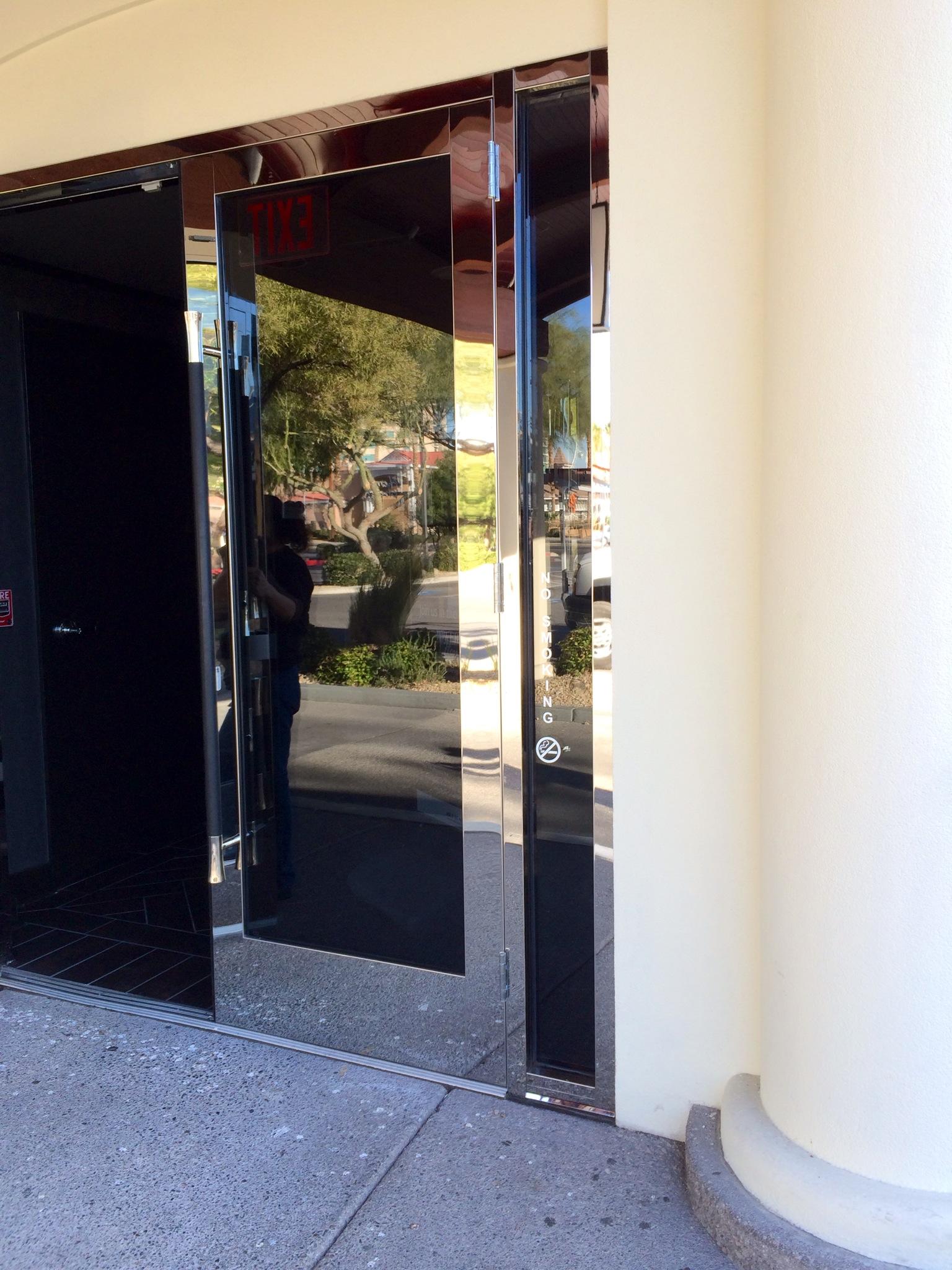 Storefront glass doors