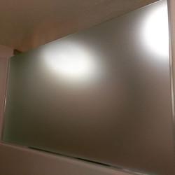 Custom oversized shower stall in acid etch