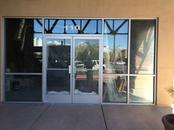 glass storefront las vegas