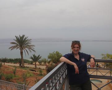 Michele at the Dead Sea