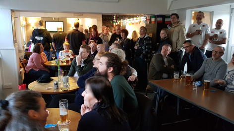 Rugby fans at The Craufurd Arms