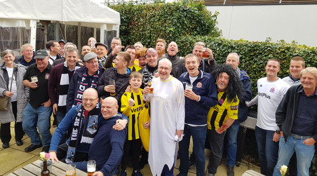AFC Fylde supporters taking over the Craufurd Arms