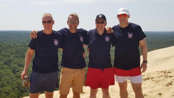 Chris, Phil, Oz and Gaz at Dune de Pilat Arcachon