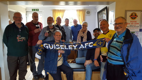 Guiseley AFC fans at The Craufurd Arms