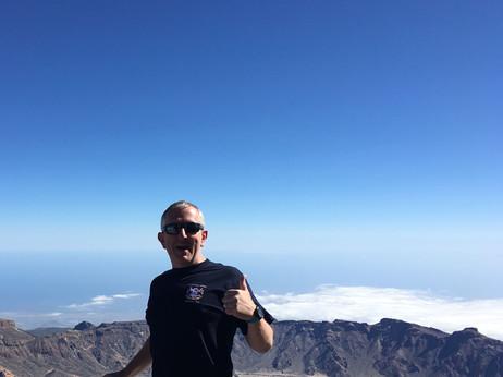 Paul up Mount Teide on Tenerife