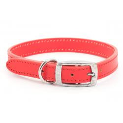 Ancol Leather Collar Red, 35-43CM SIZE 4