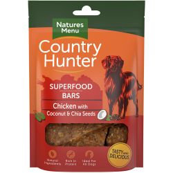 Country Hunter Superfood Bar Chicken with Coconut & Chia Seeds, 100G