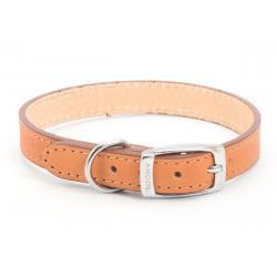 Ancol Leather Collar Tan, 26-31CM SIZE 2
