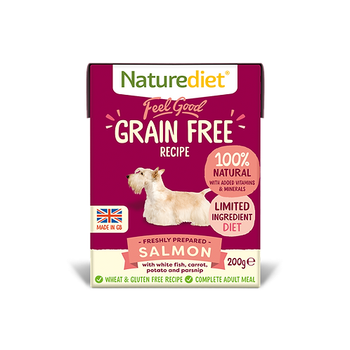 Naturediet Feel Good Grain Free Salmon 8 x 200g