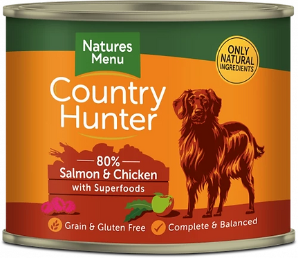 Country Hunter 80% Salmon & Chicken with Superfoods, 6 x 600G