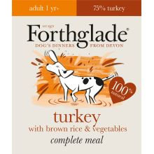 Forthglade Complete Meal Adult Turkey with Brown Rice & Vegetables, 18 x 395G