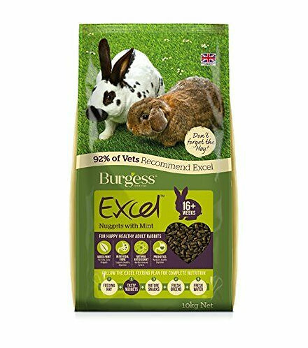 Burgess Excel Adult Rabbit Nuggets with Mint, 10KG