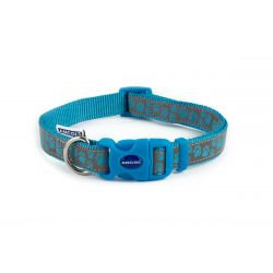 Ancol Collar Reflective Paw Blue, 30-50CM