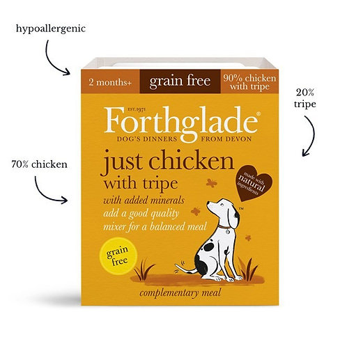 Forthglade Just Chicken with Tripe Grain Free, 18 x 395G
