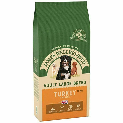 JAMES WELLBELOVED Adult Dog Turkey & Rice Large Breed, 15KG